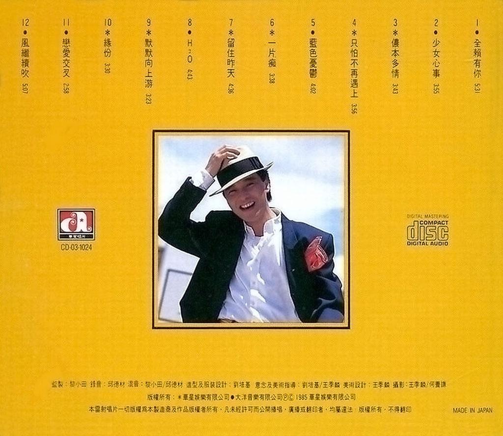 张国荣 全赖有你·夏日精选 1985(FLAC+CUE/整轨/289M)插图1