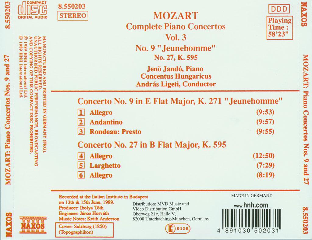 莫扎特钢琴协奏曲集 – Mozart – Piano Concertos 1991 11CD(Ape+CUE/整轨/2.38G)插图1