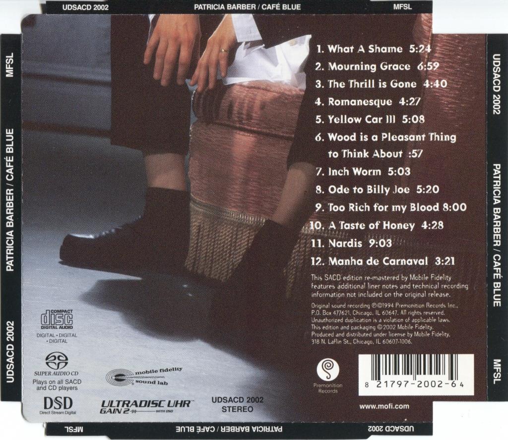 帕特里科亚·芭芭拉-蓝调咖啡屋-Patricia Barber-Café Blue-1994/2002-MFSL (SACD/ISO/2.90G)插图1