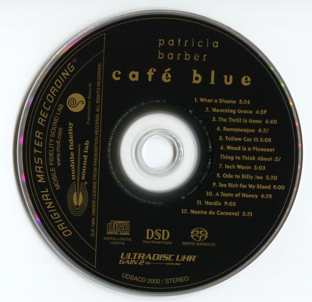 帕特里科亚·芭芭拉-蓝调咖啡屋-Patricia Barber-Café Blue-1994/2002-MFSL (SACD/ISO/2.90G)插图2