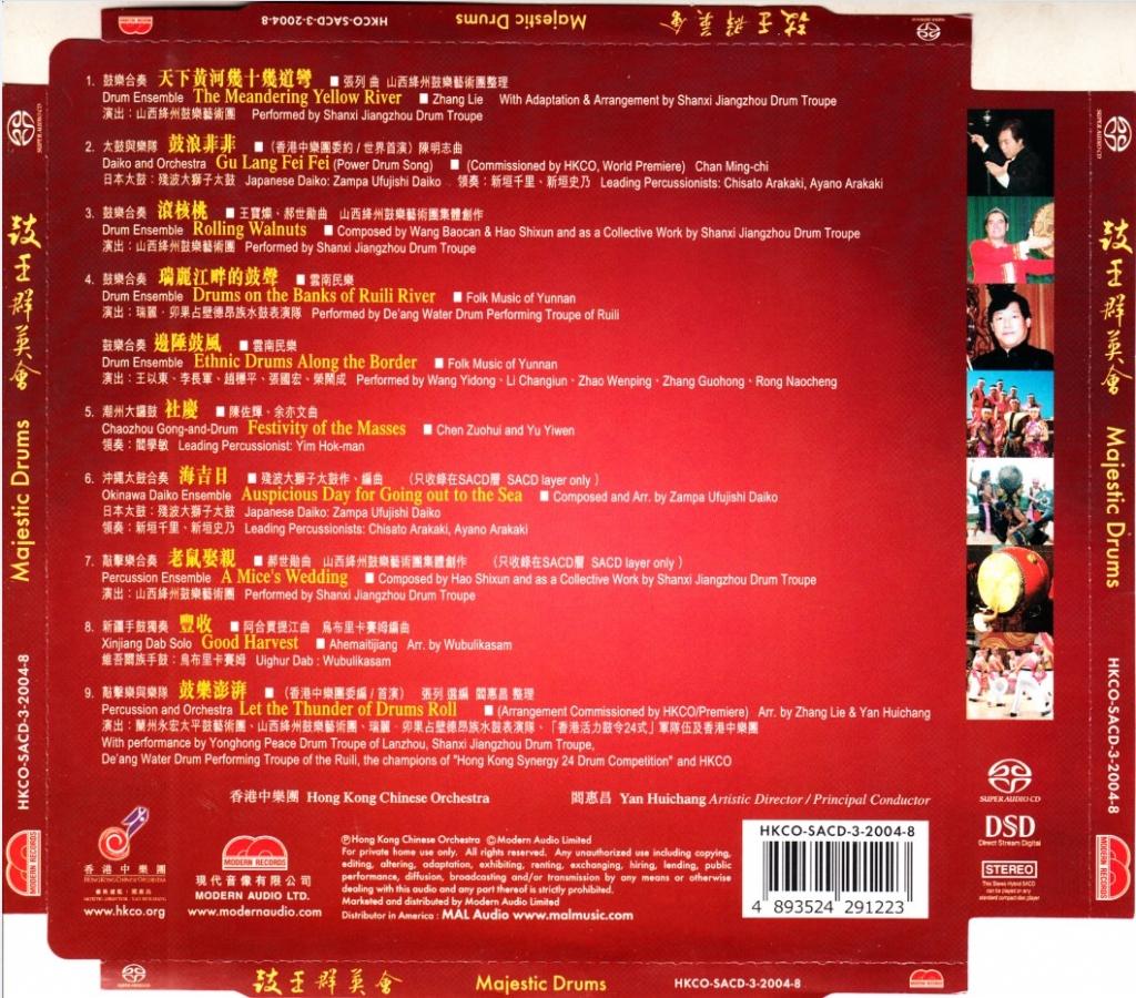 香港中乐团 – 鼓王群英会 – 2004 (SACD/整轨/1.32G)插图1